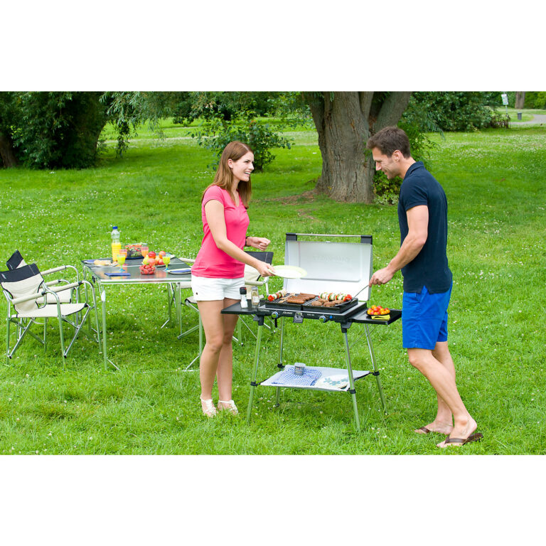 Campingaz Series 600 SG Double Burner & Grill With Stand, Portable Camping Gas Stove image 6