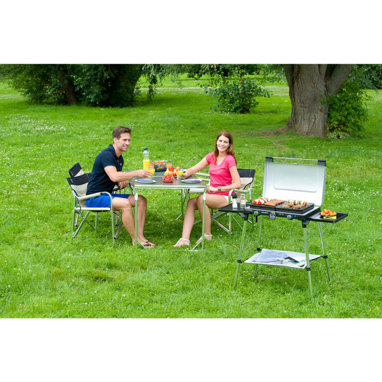 Campingaz Series 600 SG Double Burner & Grill With Stand, Portable Camping Gas Stove image 7