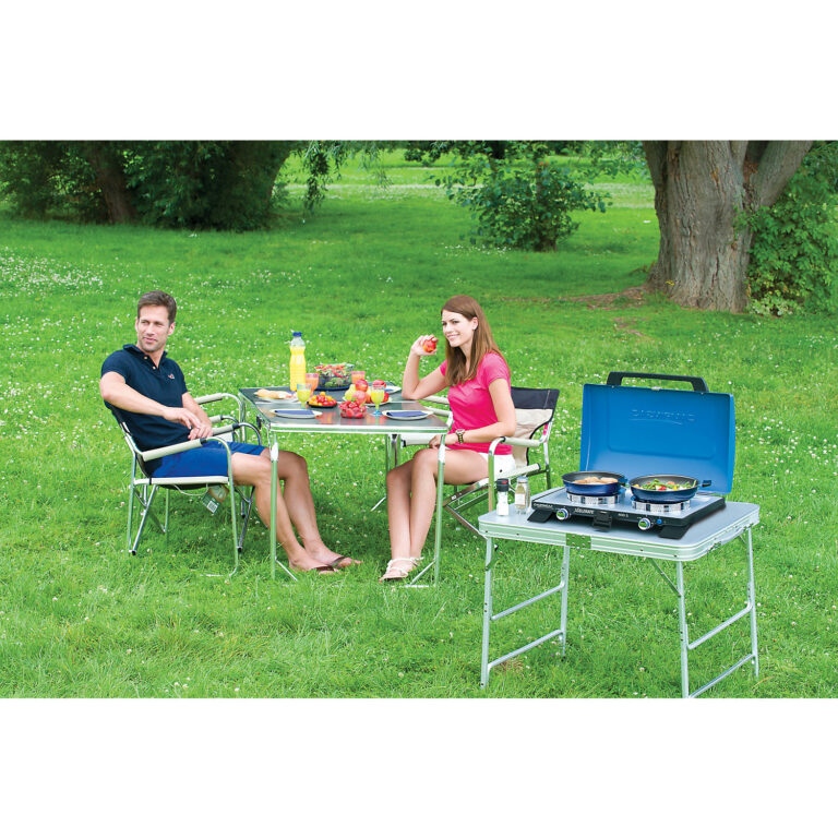Campingaz Series 600 SG Double Burner & Grill With Stand, Portable Camping Gas Stove image 2