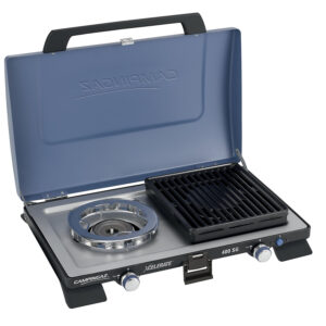 Campingaz Series 400 SG Double Burner & Grill, Portable Camping Gas Stove