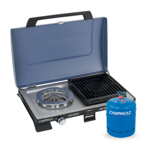 Campingaz Series 400 SG Double Burner & Grill with Campingaz Bottle