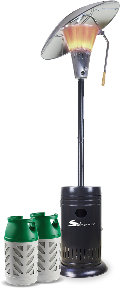 Sahara Heat Focus 13kw Patio Heater  with 2 Gaslight Cylinders image 1